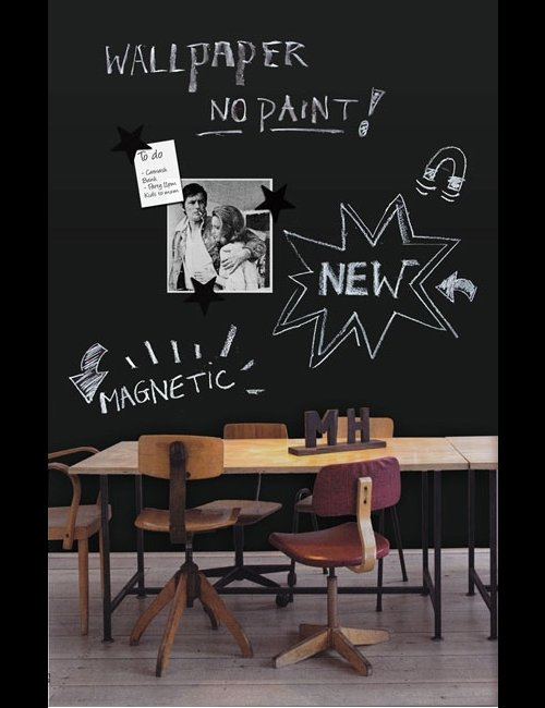 Blackboard Wall And Mood Board In One