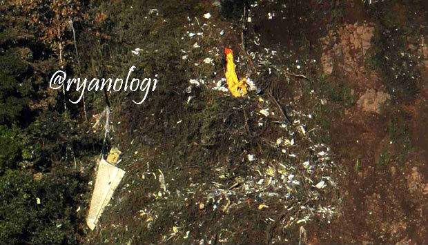 Foto Kecelakaan Sukhoi Superjet 100