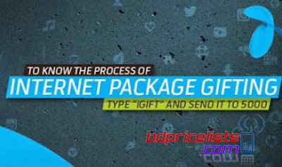 GP To GP 3G Internet/MB Data Transfer Code And grameenphone Data Gifting Process Details in Bangladesh