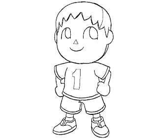 #5 Villager Coloring Page