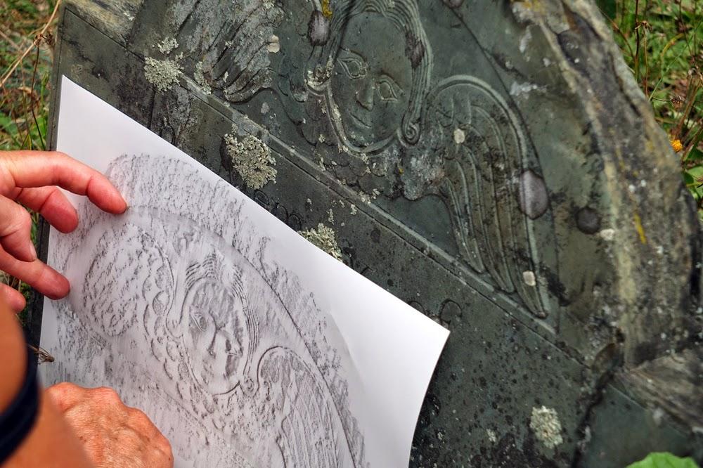 stone rubbing from heartstonepaper.com, headstone rubbing
