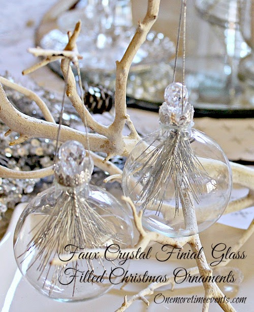 How to create a finial glass ornament at One More Time Events.com