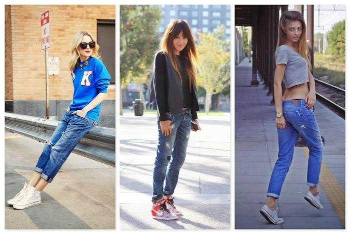 look sportivi con jeans boyfriend