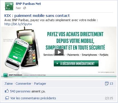 BNP Paribas KIX sur Facebook