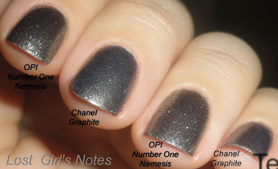 chanel graphite and opi number one nemesis dupe comparison