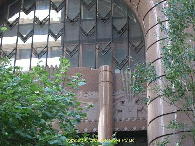 Facade detail under archway