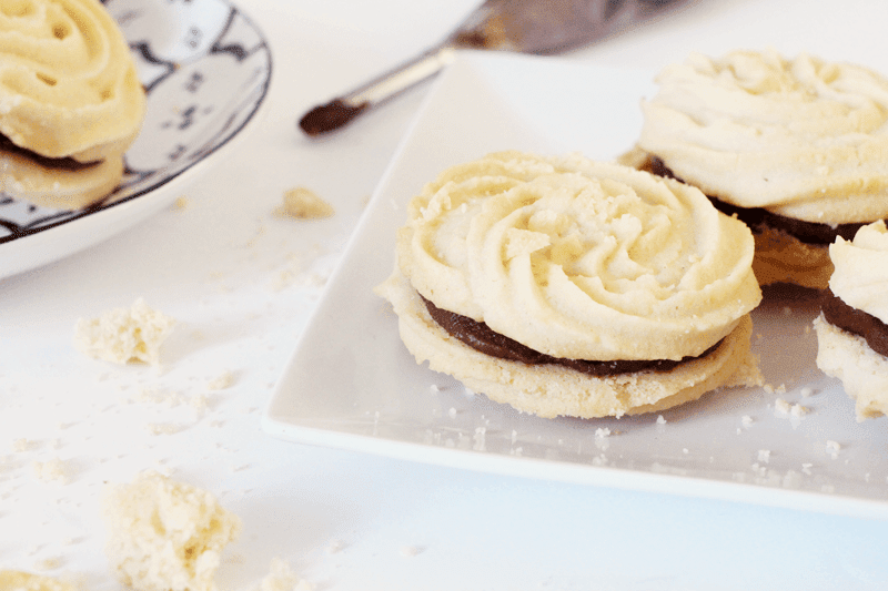 viennese whirl recipe, chocolate viennese whirls