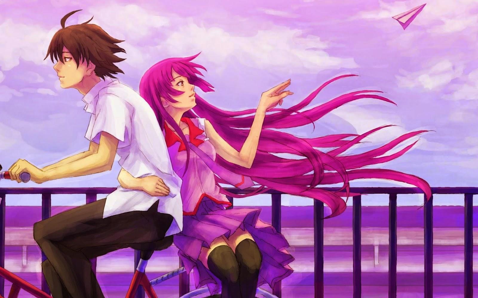 tải hình nền anime tình yêu lãng mạn