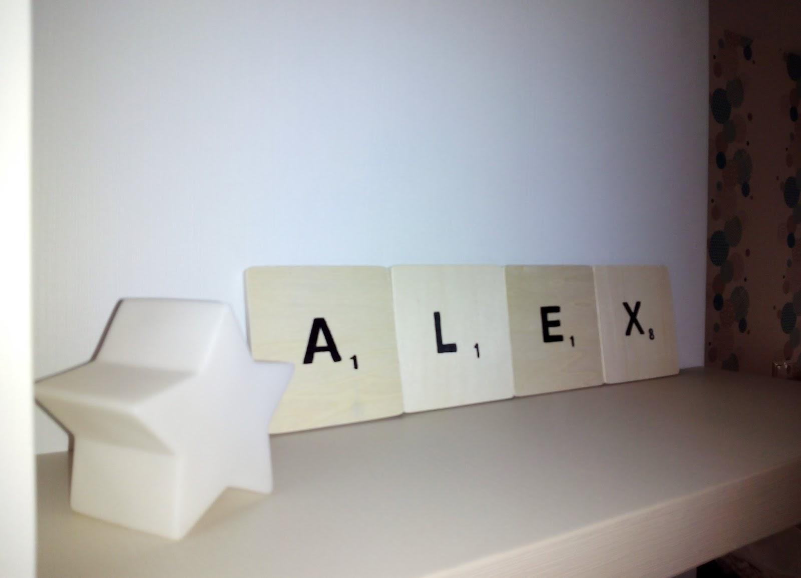 I d e a la habitaci n de lex parte 4 letras scrabble - Letras scrabble pared ...