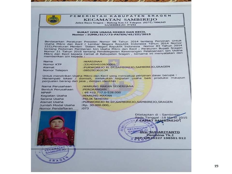 Contoh Surat Izin Usaha Mikro Dan Kecil Dari Kecamatan