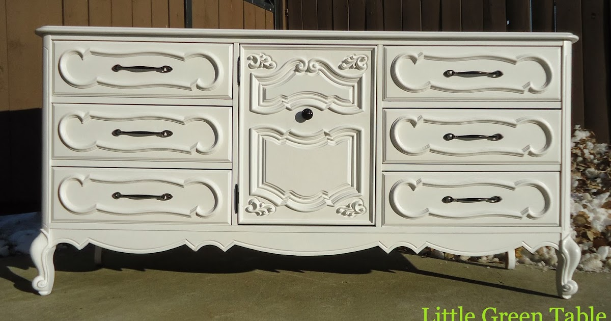 Little Green Table...: White French Provincial Cabinet