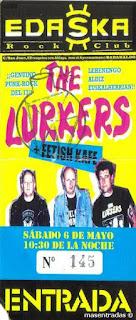 entrada de concierto de the lurkers