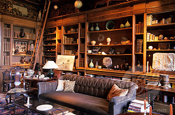 Wall To Wall Bookcases In A Rich Wood Full Of Books And Interesting Objects  Is A Great Way To Fill Up A Space And Make An Ecelectic Room