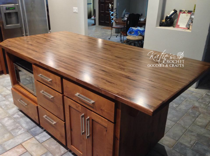 diy butcher block countertops katie s crochet goodies