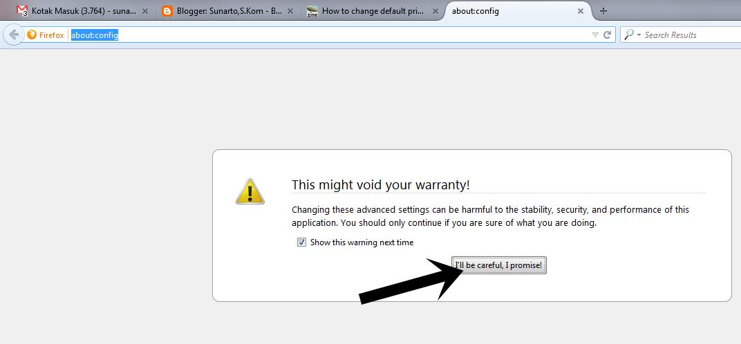 Menghilangkan Printer Default Pada Browser Mozilla Firefox Sunarto S Kom