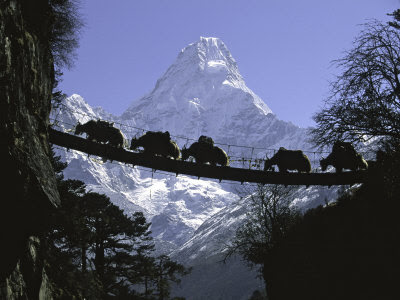 Beautiful Mountain Ama Dablam, Eastern Nepal