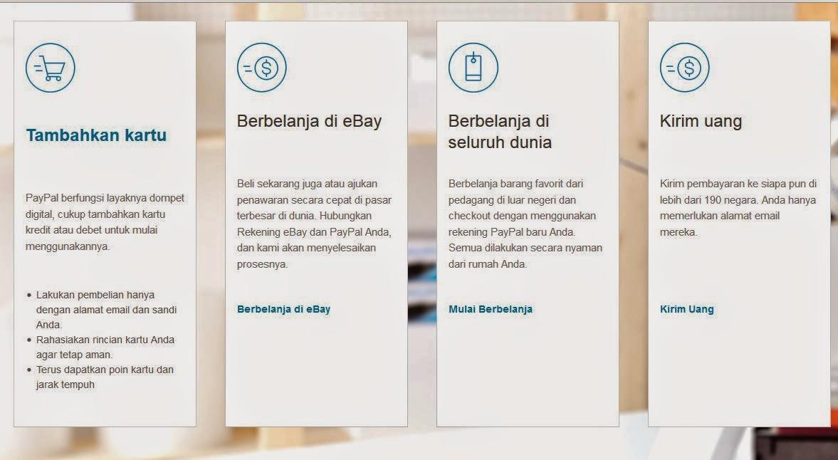 Cara membuat rekening online gratis di paypal