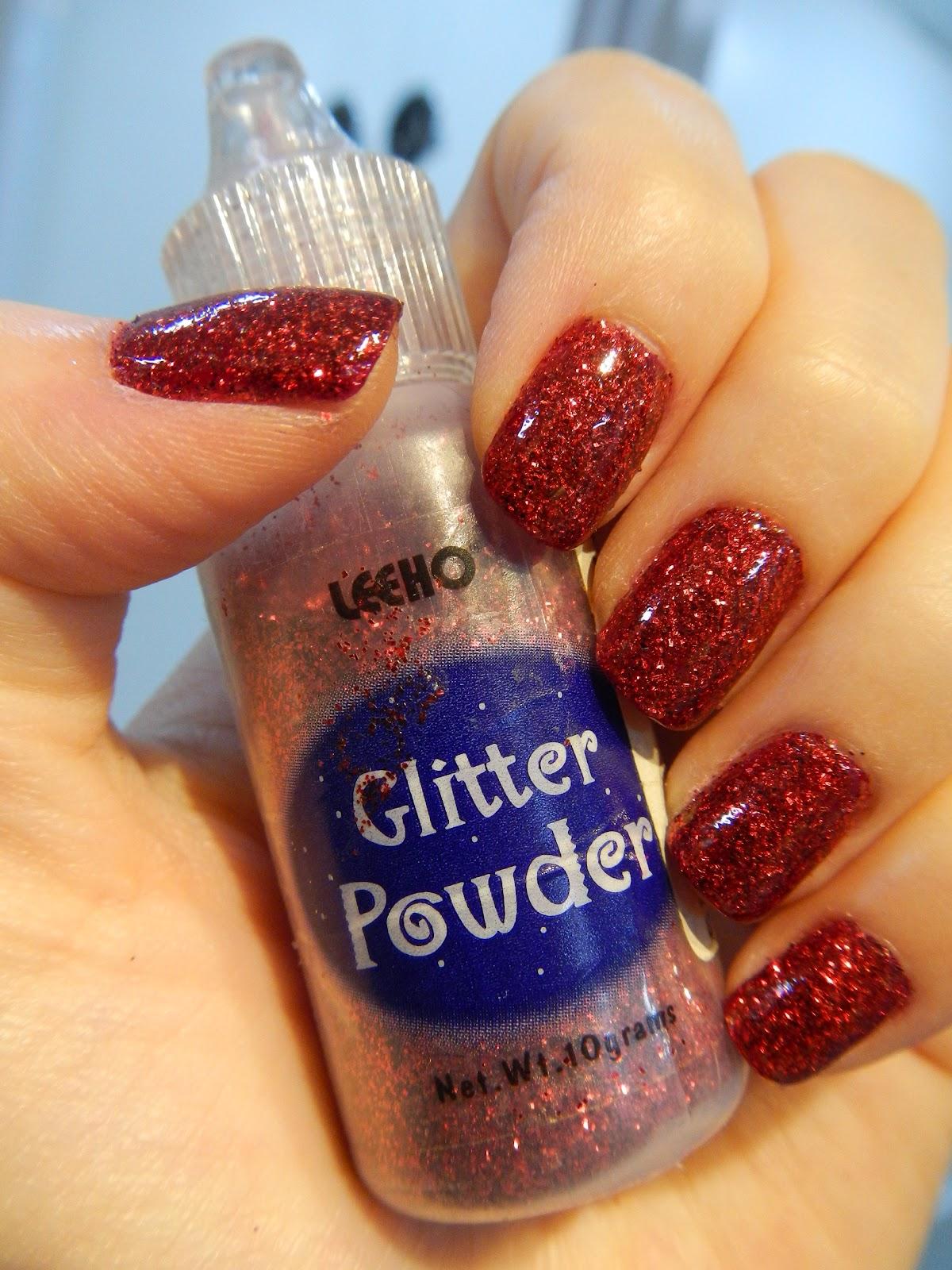Karen Lives High: Ruby Red Glitter Nails for My Birthday