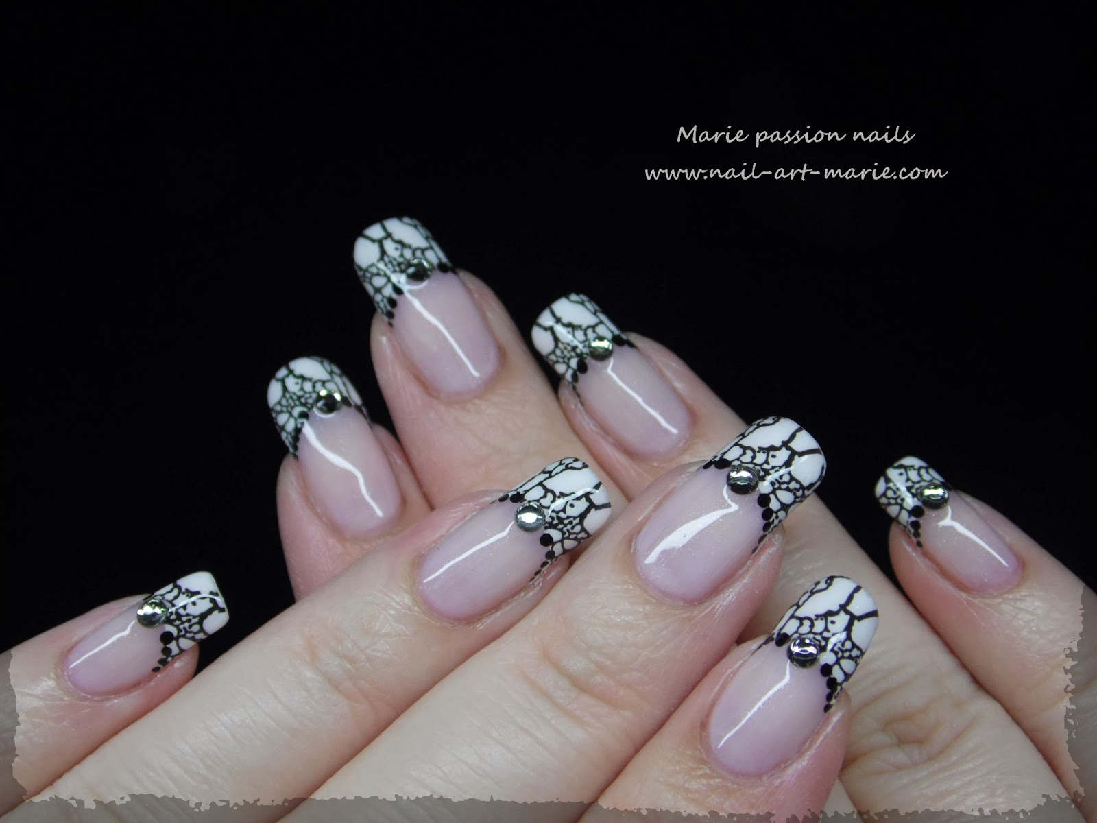 Nail art French effet faux ongles4