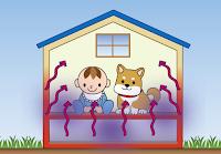 合成殺虫剤での防腐防蟻は、居室内の空気を汚します。