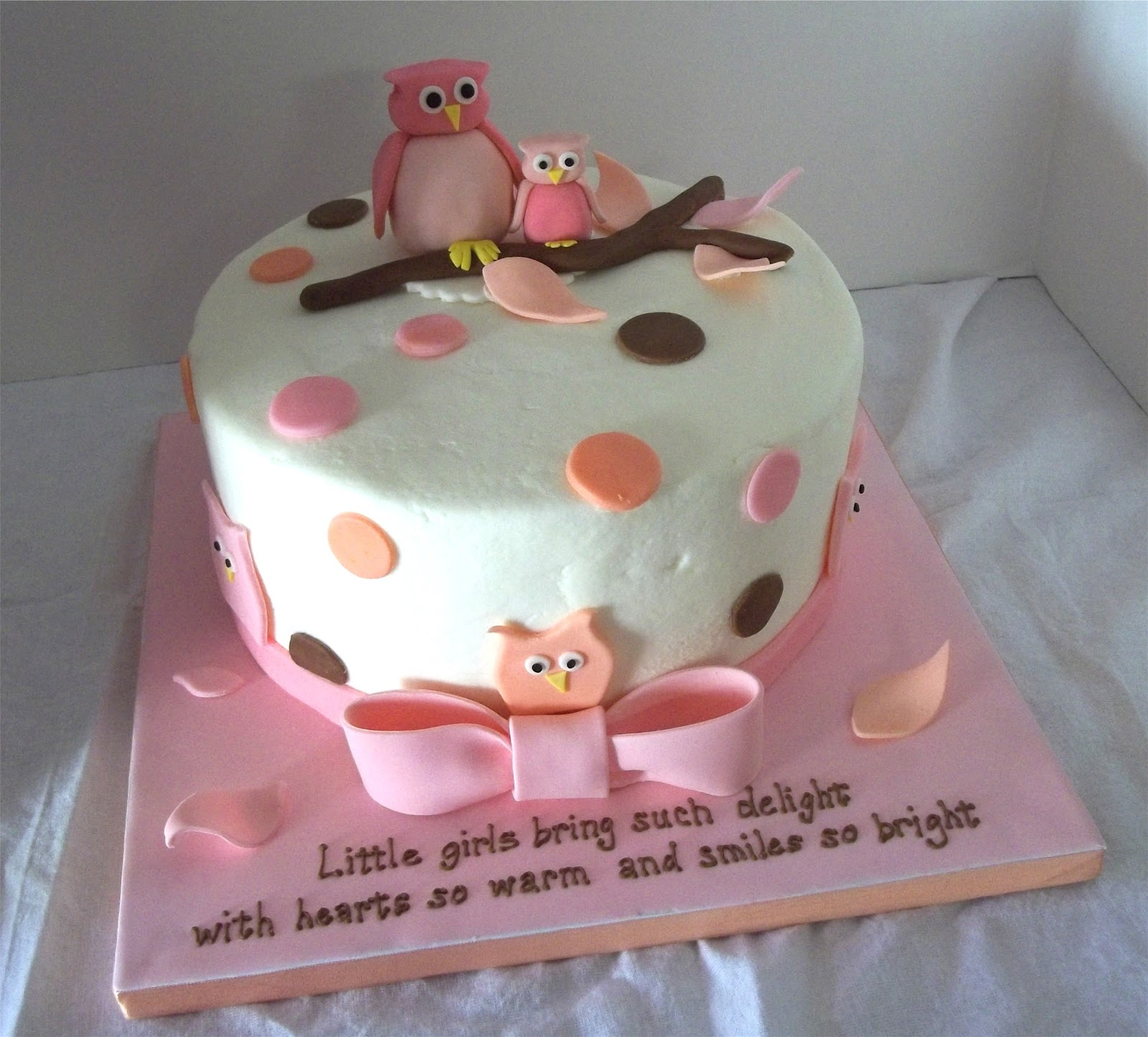 Bobbies Cakes And Cookies Owl Themed Shower For A Baby Girl