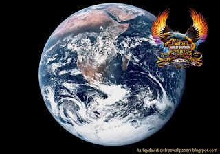 Desktop wallpapers Harley Davidson Fire Bird Logo at Planet Earth From Space desktop wallpaper