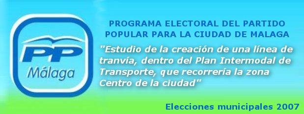 El PP promete un tranvía en el centro de Málaga