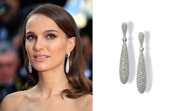 Cannes 2015, Natalie Portman, de Grisogono, diamonds earrings
