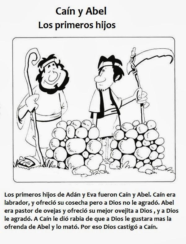 ME ABURRE LA RELIGIÓN: CAÍN Y ABEL. ACTIVIDADES PARA COLOREAR