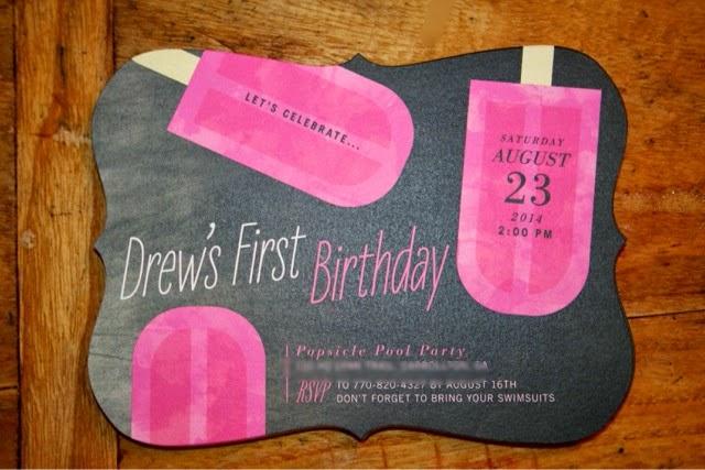 Tiny Prints First Birthday Invitations