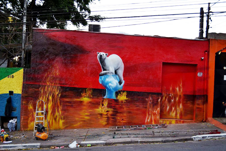 These 30+ Street Art Images Testify Uncomfortable Truths - The World Is On Fire