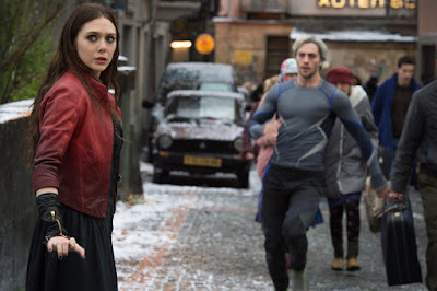 Elizabeth Olsen and Aaron Taylor-Johnson in Avengers: Age of Ultron