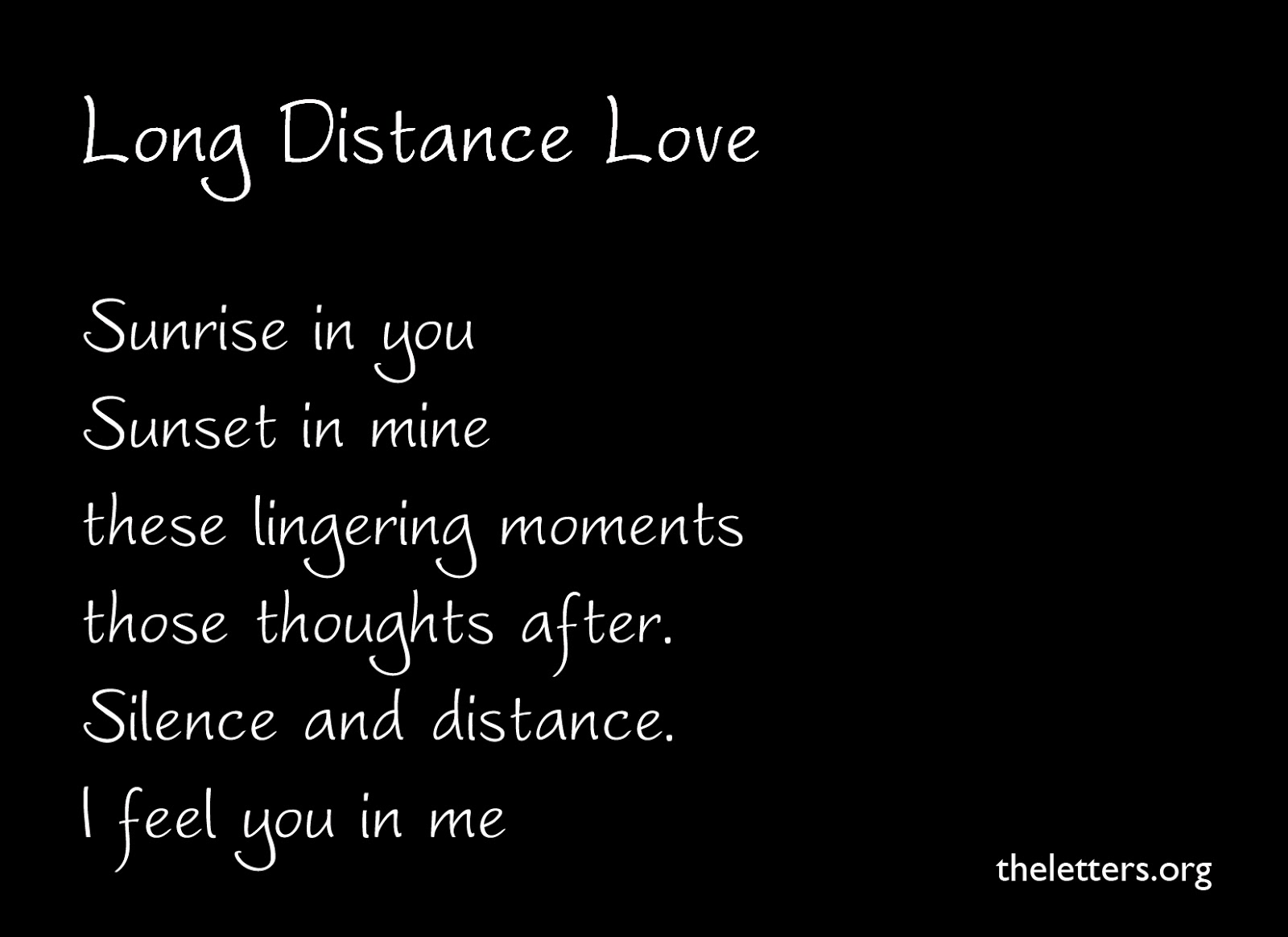 Dating long distance relationships