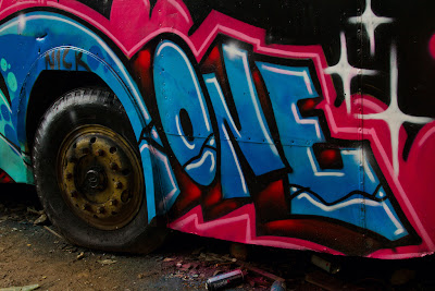 One... flat tyre - Tram sheds, Gebe