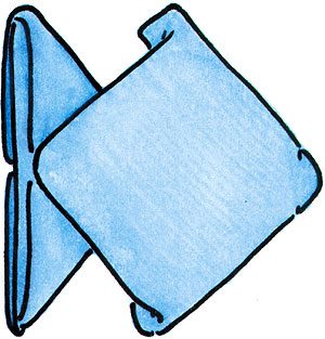 cuisine actuelle le pliage de serviette plat le poisson. Black Bedroom Furniture Sets. Home Design Ideas