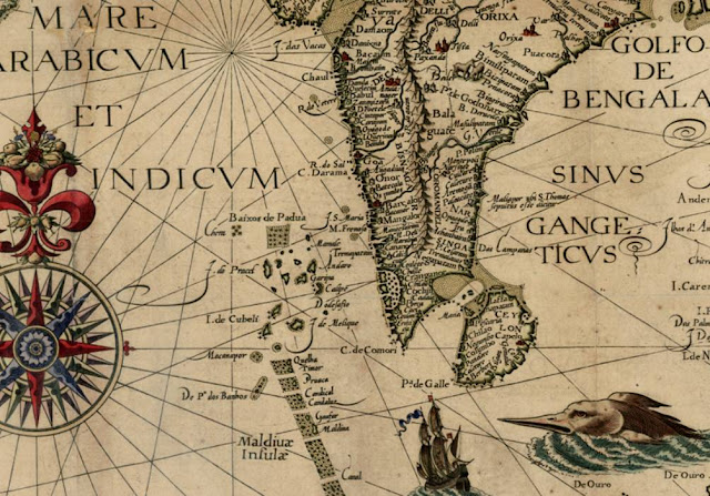 Ancient map of parts of India
