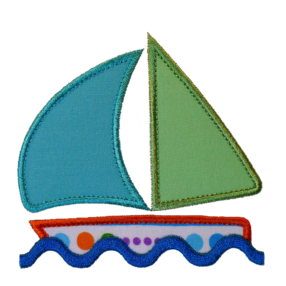 Big dreams embroidery simple sail boat machine