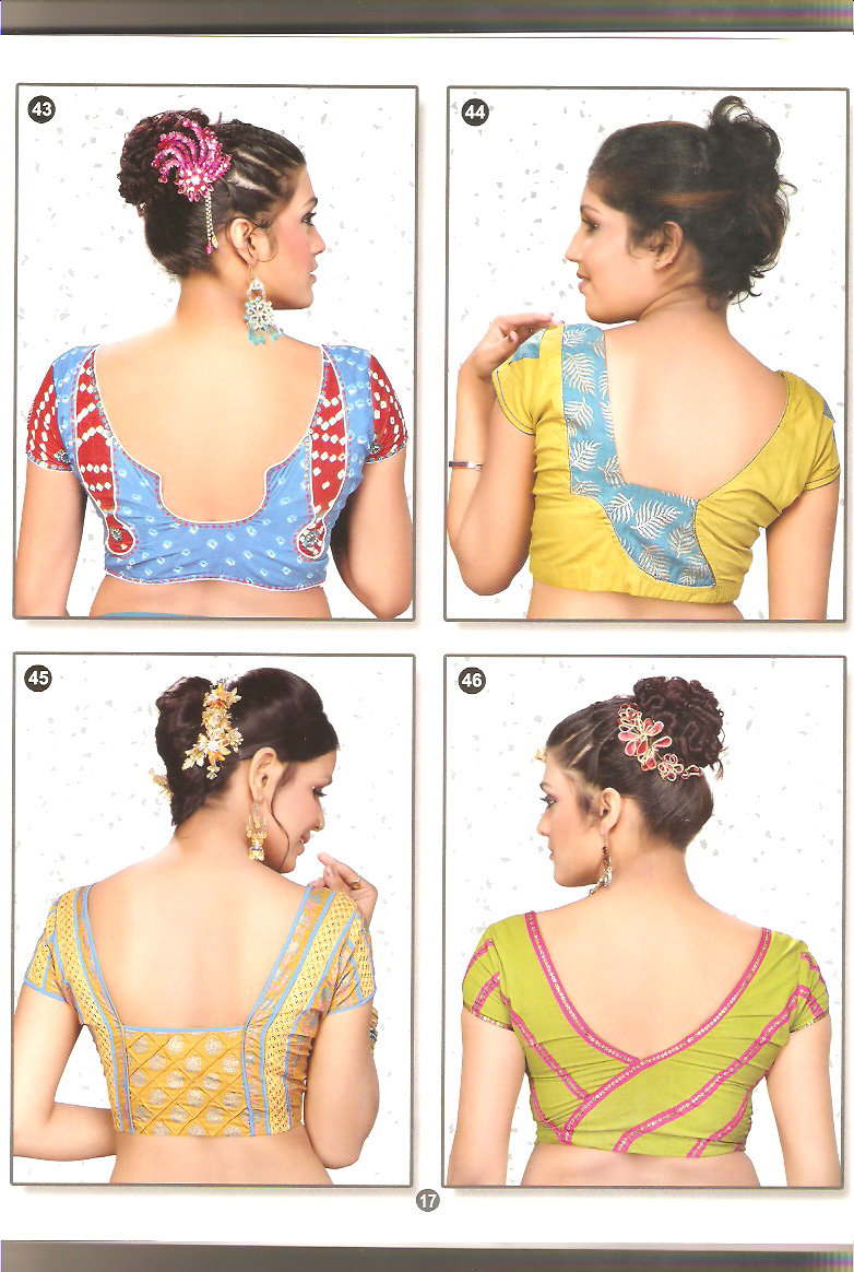 latest blouse back neck designs images anjali blouse back design pics
