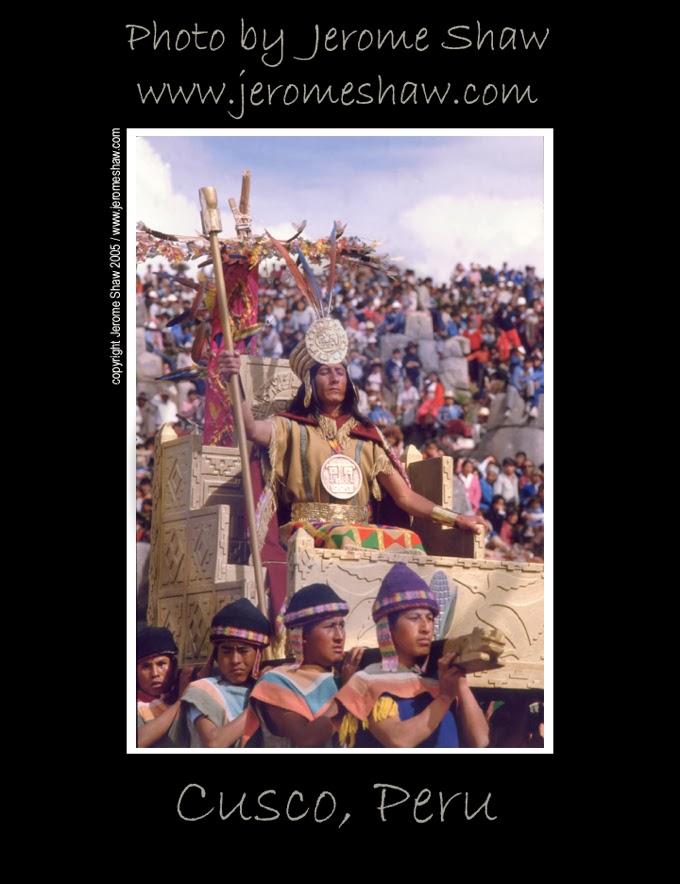 The King of the Incas - Inti Raymi Celebration in Cusco, Peru  .Photograph byJerome Shaw / wwwJeromeShaw.com