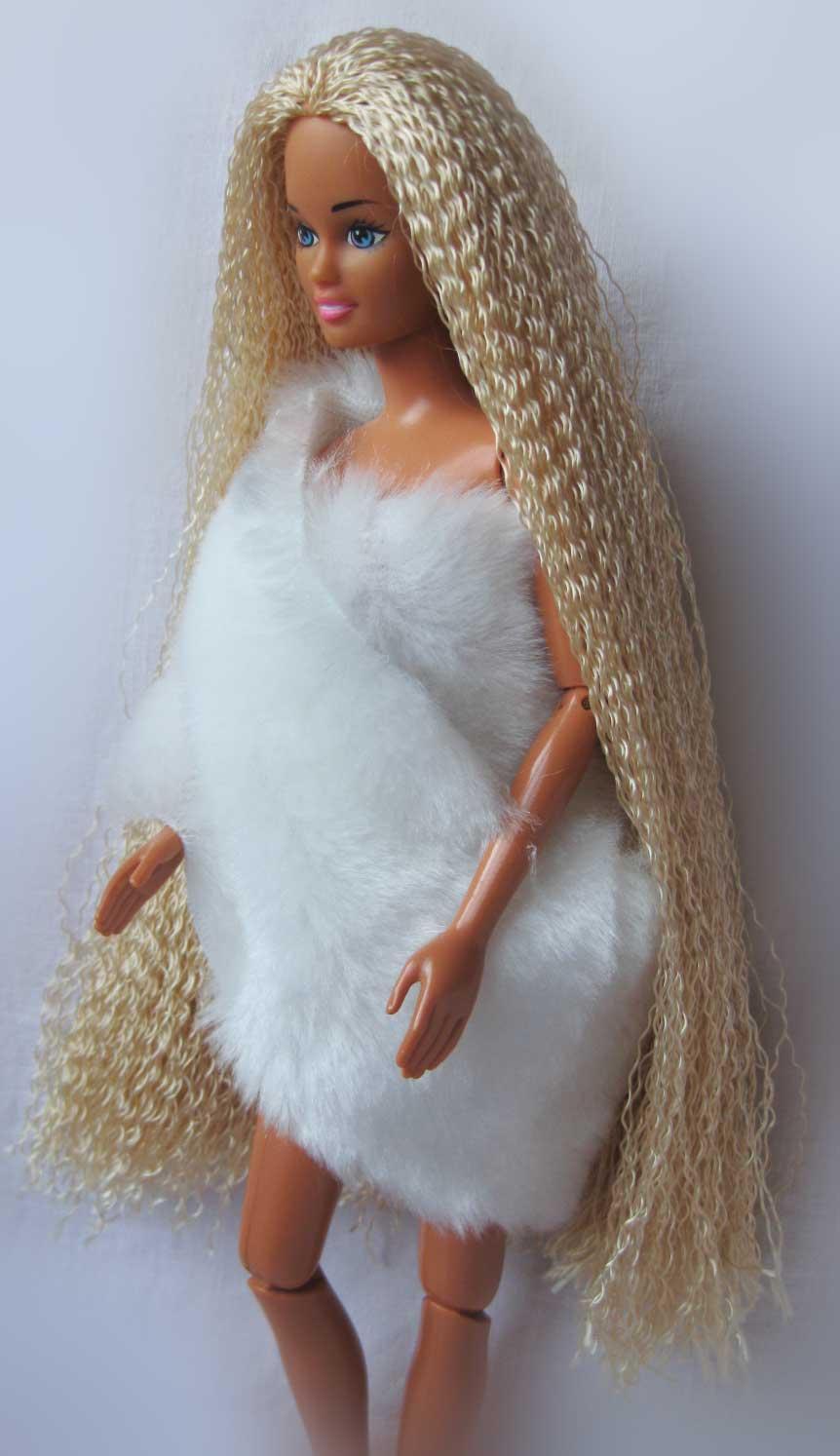 Как сделать кукле волосы 62