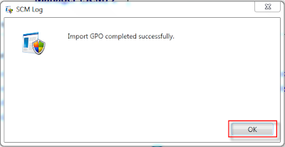 Now you have successfully import the group policy object into the security compliance tool