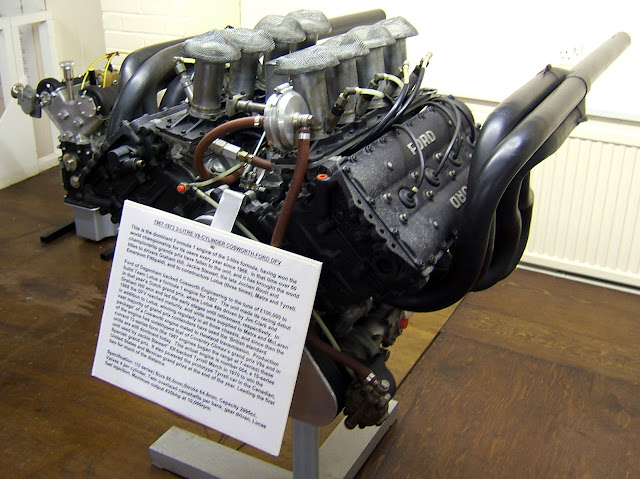 A Cosworth DFV 3L V8 Formula One engine.