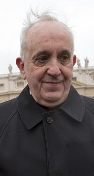 Jorge Bergoglio, Francis, March 2013 in Rome.