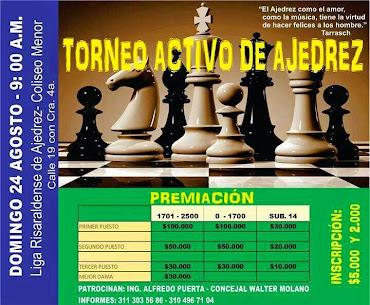 Pereira (Ris) I TORNEO ACTIVO DE AJEDREZ (dar clic a la imagen)