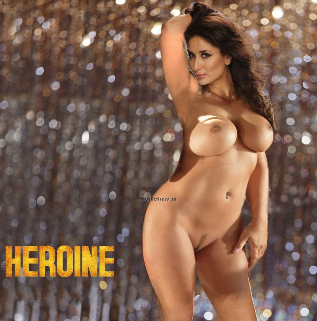 Slut Actress Kareena Kapoor Full Nude Shoot Showing Breast