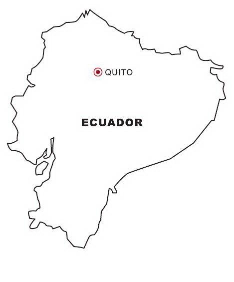imagenes mapa politico ecuador para colorear