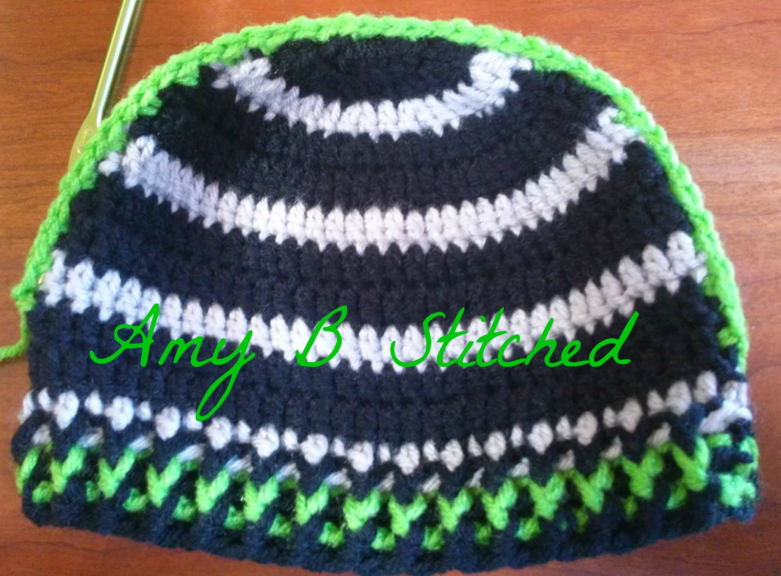 A Stitch At A Time For Amy B Stitched Mohawk Beanie Free Crochet