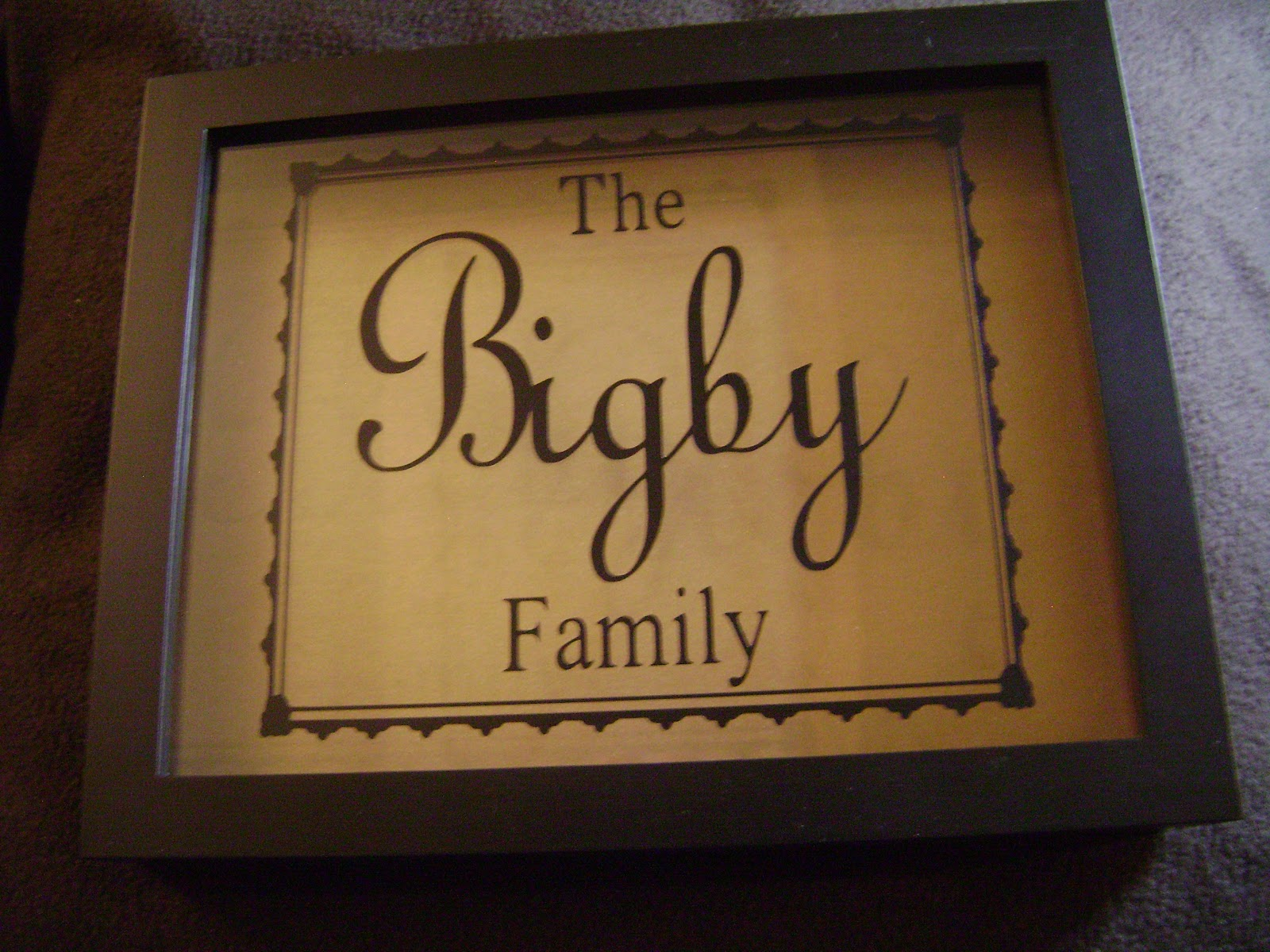 personalized vinyl expressions on shadowbox