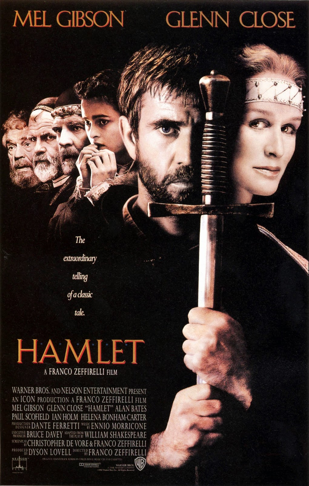 a comparison of hamlet by william shakespeare and movie version of hamlet by mel gibson Hamlet by mel gibson (1990) and kenneth branagh (1996) interpret  the two  film versions of act iv of hamlet have many differences and similarities kenneth   gibson and branagh in the movie versions of shakespeare's hamlet.