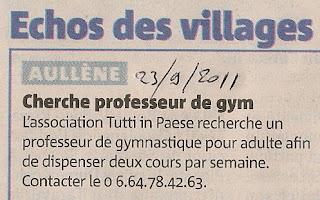 recherche prof gym